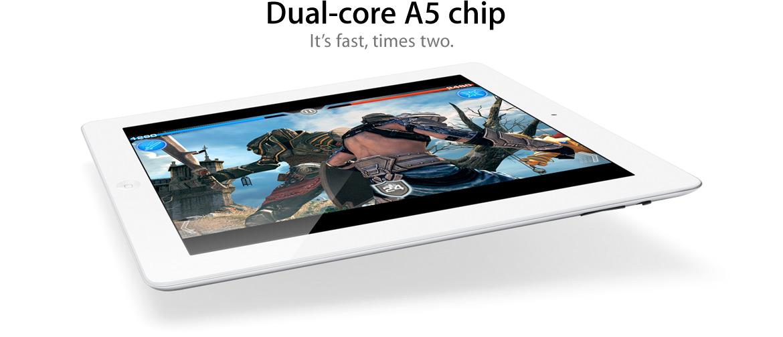 iPad 2, weiß, A5 Prozessor